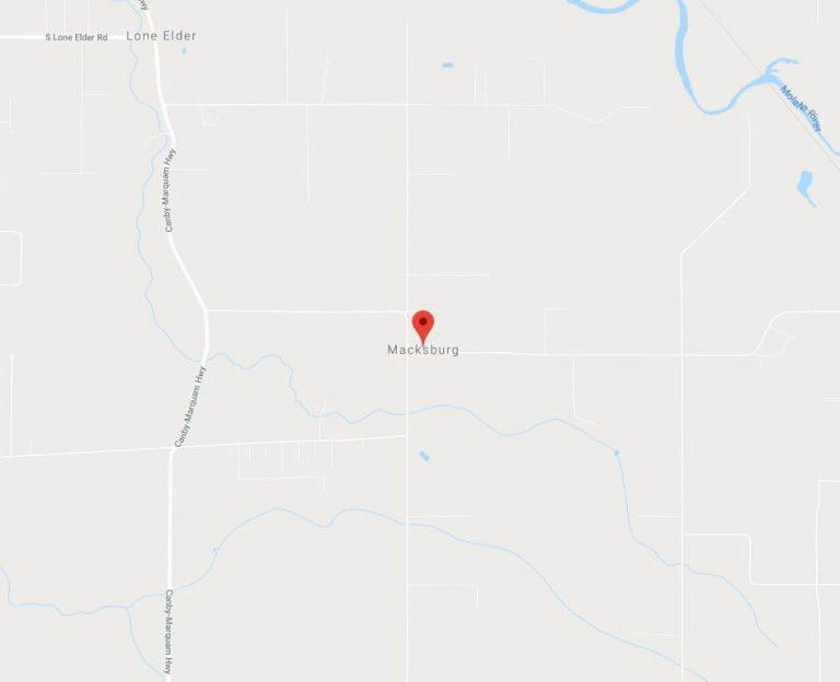 Macksburg Map